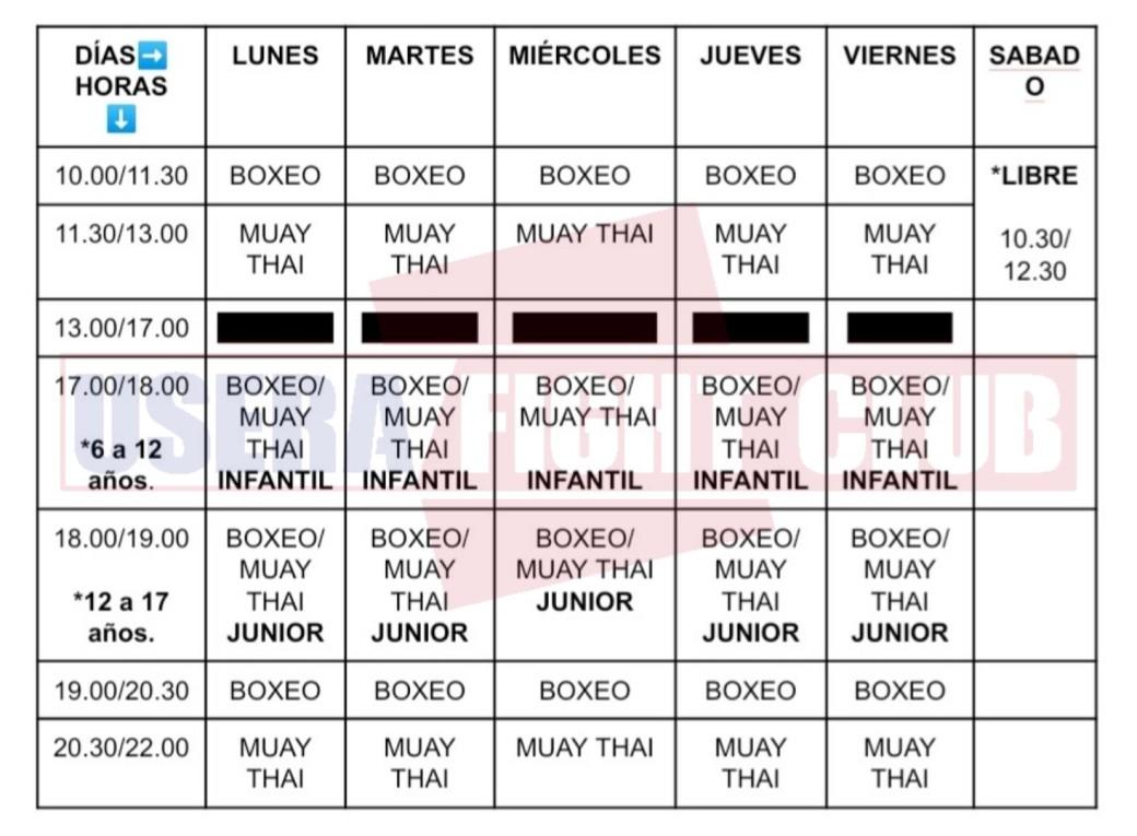 Horario, Usera, Madrid, boxeo Madrid, muay Thai Madrid, nuevo horario, boxeo infantil Madrid, boxeo niños Madrid, muay Thai infantil Madrid, muay Thai junior Madrid, boxeo junior Madrid.